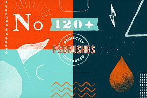 120+ PS Brushes: Perfectly Distorted