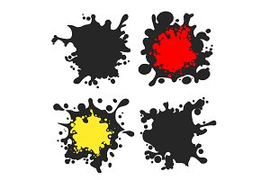 Spot labels vector set