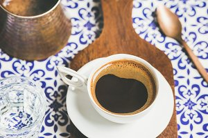 Black Turkish style coffee