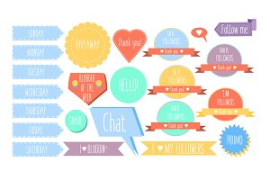 Social media blogging design element