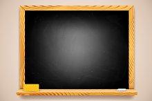 Vector Black Chalkboard