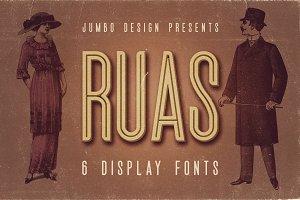 Ruas - Vintage Style Font