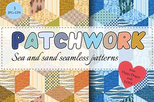 Sea and sand patchwork collection