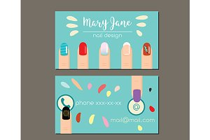 Manicure nail salon business card