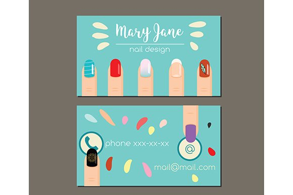 Manicure Nail Salon Business Card Cards