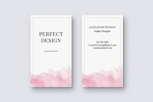 Gentle Watercolor Business Card