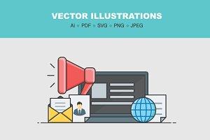 E-commerce vector illustrations