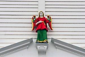 Wooden guardian angel