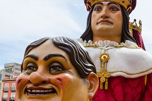 Giants and Big Heads parade in Spain