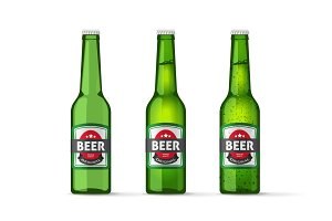 Beer Bottles Vector Set