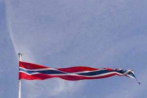 Norway flag waving