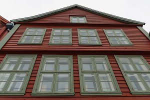 Hanseatic facade, Bergen, Norway