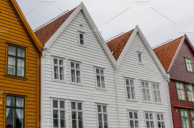 Hanseatic houses. Bryggen, Norway - Architecture
