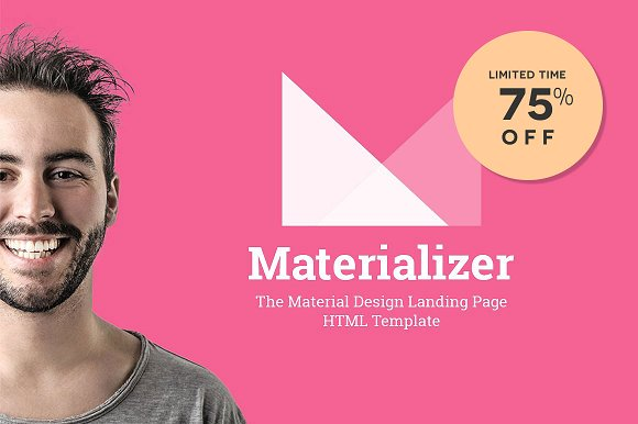 Material Design Landing Page HTML