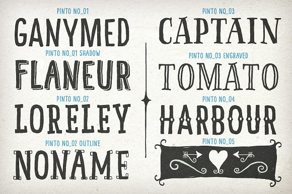 Hand Drawn Pinto A 14 Fonts Bundle Display Creative Market