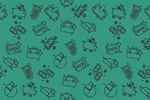 Bank icons pattern