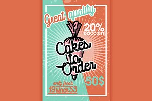 Color vintage cakes to order banner