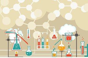 Chemistry seamless pattern
