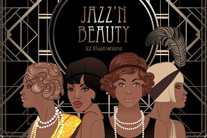 Jazz'N Beauty Vector Set