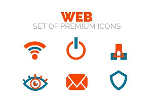 Set of vector web internet www concepts