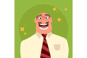 Happy and funny businessman