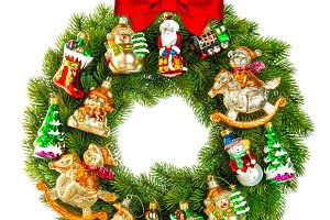 Christmas Wreath With Toys
