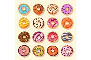 donut icon set