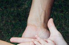 Family hands over grass.jpg