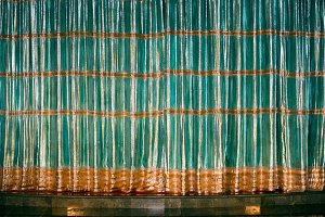 Green and gold curtain