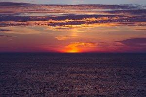 Sea sunset dramatic. Norway