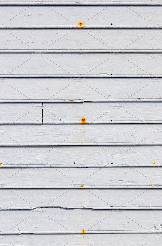Wood planks in white. Background - Architecture