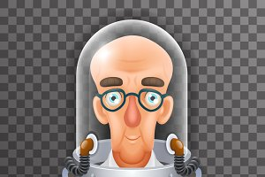 Bald Scientist Avatar