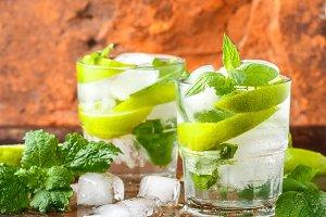 Mojito cocktail or lemonade