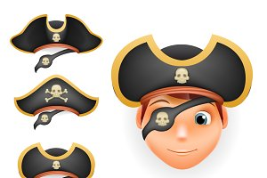 Pirate hats set