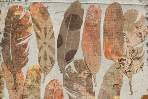 Vintage Grunge {paper feathers}