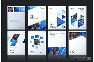 Abstract vector business template. Brochure layout, cover modern