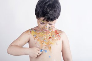 Child with painted body