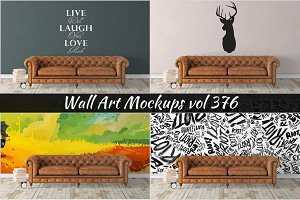 Wall Mockup - Sticker Mockup Vol 376