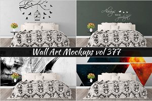 Wall Mockup - Sticker Mockup Vol 377