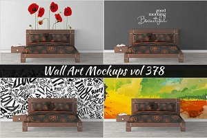 Wall Mockup - Sticker Mockup Vol 378