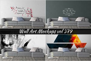 Wall Mockup - Sticker Mockup Vol 379