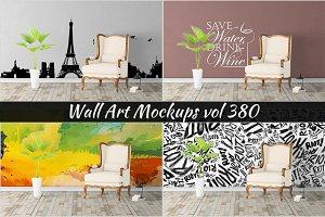 Wall Mockup - Sticker Mockup Vol 380