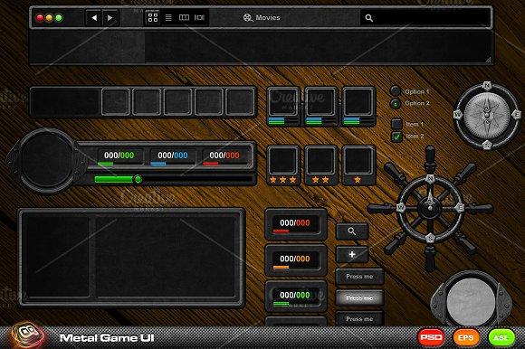 Metal Game Ui Kit Web Elements On Creative Market