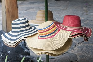 straw hats and handmade