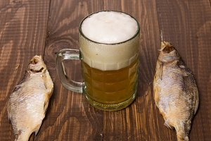 Salted fishes and beer