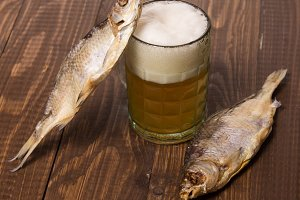 Beer and two fishes