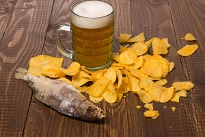 Salted fish, chips and beer