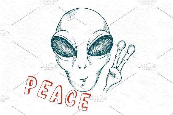 Cool alien show symbol of peace