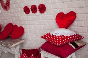 Decorated in valentine style
