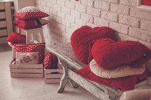 Beautiful pillows all around